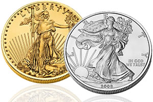US American Eagle gold and silver coin
