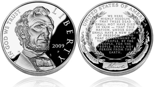 2009 Abraham Lincoln Silver Dollar Proof Coin
