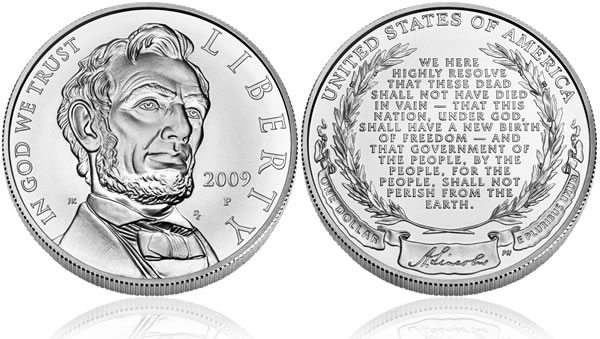 2009 Abraham Lincoln Silver Dollar Uncirculated Coin