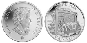 2009 Coal Mining Trade Canadian Silver Proof Coin