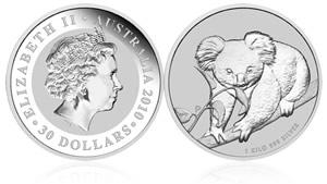 2010 Australian Koala Bullion Silver Coin