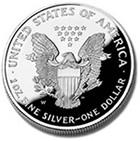 American Eagle Silver Coin - Obverse