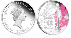 50th Anniversary Barbie 1oz Silver Proof Coin