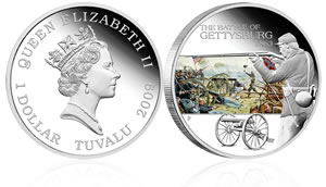 Battle of Gettysburg Silver Coin