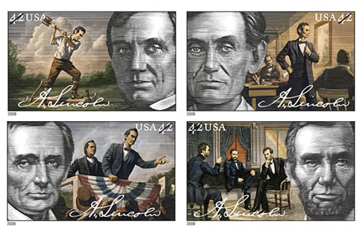 Lincoln Bicentennial First Class Commemorative 42-Cent Stamps
