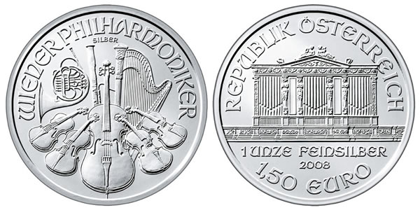 2009 Austria Silver Philharmonic Coin Sct