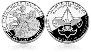 2010 Boy Scouts of America Silver Dollar Proof