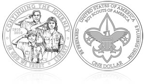 2010 Boy Scouts of America Silver Dollar Coin Designs