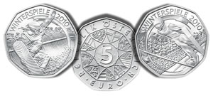 Austrian Mint 2010 Winter Olympic Silver Coins