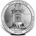 2010 Hot Springs Silver Uncirculated Coins