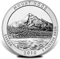 2010 Mount Hood Silver Uncirculated Coins