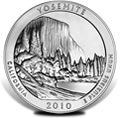 2010 Yosemite Silver Uncirculated Coins