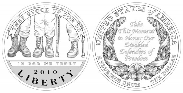 2010 American Veterans Disabled for Life Silver Coin Designs