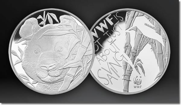 WWF Silver Giant Panda Medal