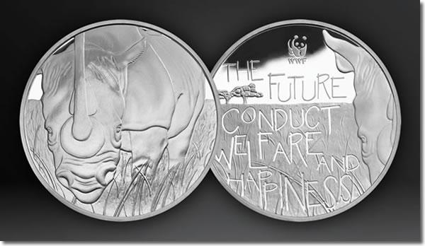 WWF Silver Rhino Medal