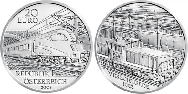 Austria Railway of the Future Silver Coin - Click to Enlarge