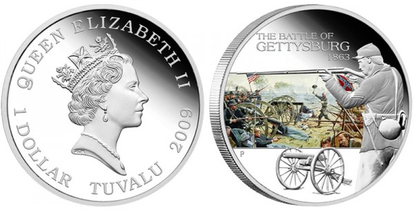1863 Battle of Gettysburg Silver Coin - Click to Enlarge