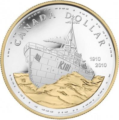 Canadian Navy Centennial Silver Dollar Coin - Click to Enlarge