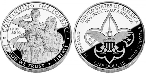 2010 Boy Scouts of America Centennial Silver Dollar Proof (Click to Enlarge)