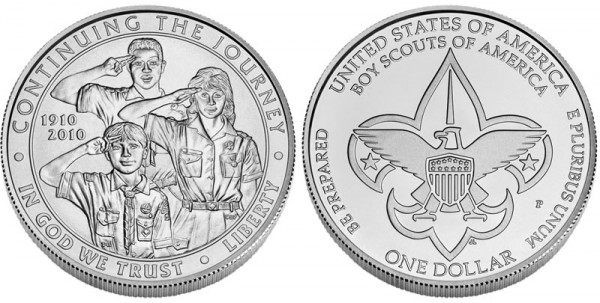 2010 Boy Scouts of America Centennial Silver Dollar Uncirculated (Click to Enlarge)