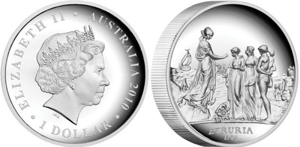 Sydney Cove Medallion Silver Proof Australian Coin (Click to Enlarge)