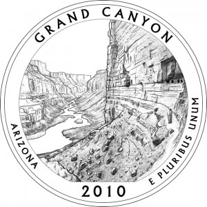 Grand Canyon National Park Silver Coin Design - Click to Enlarge
