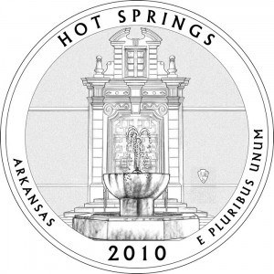 Hot Springs National Park Silver Coin Design - Click to Enlarge