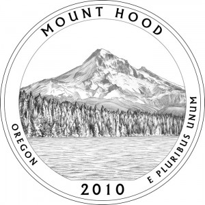 Mt. Hood National Park Silver Coin Design - Click to Enlarge