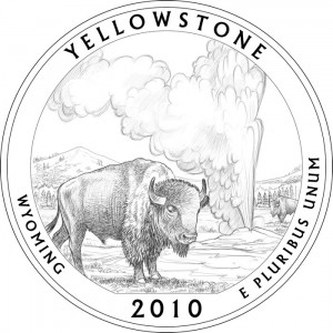 Yellowstone National Park Silver Coin Design - Click to Enlarge