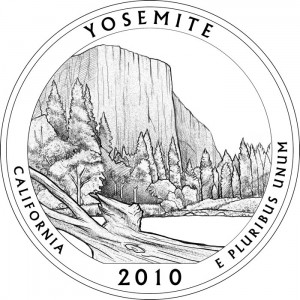 Yosemite National Park Silver Coin Design - Click to Enlarge