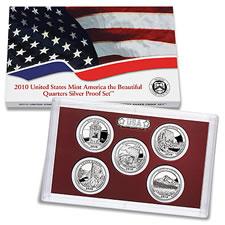 2010 America Beautiful Quarters Silver Proof Set