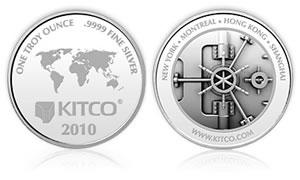 2010 Kitco 1 oz Silver Round
