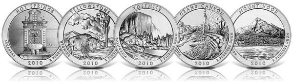 5-Ounce 2010 America the Beautiful Silver Bullion Coins