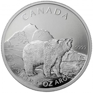 2011 Canadian Grizzly Silver Coin