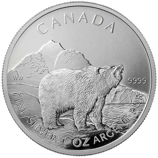 2011 Grizzly Silver Coin Second In Canadian Wildlife