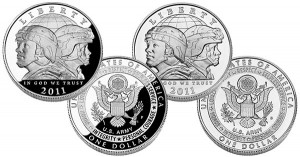 US Army Silver Dollar Proof and Uncirculated Coins