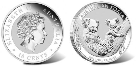 2011 Australian Koala 1/10 oz Silver Coin