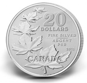 Canadian 2011 Silver $20 Coin