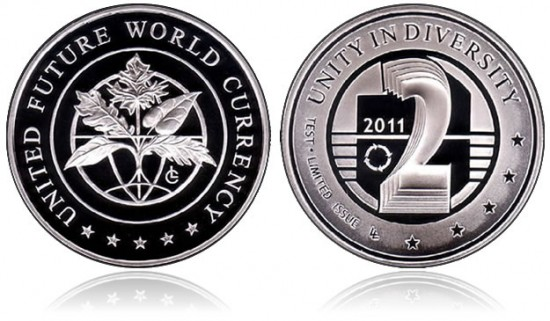 United Future World Currency 2011 Eco-Coin