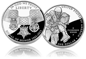 2011 Medal of Honor Silver Dollar Commemorative Coin