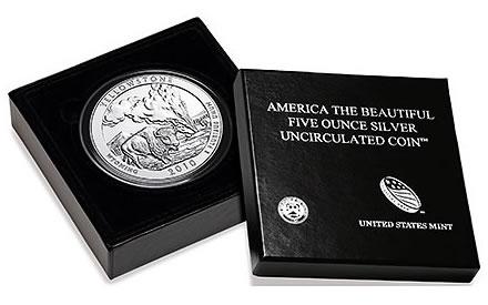 Yellowstone 5 Ounce Silver Uncirculated Coin