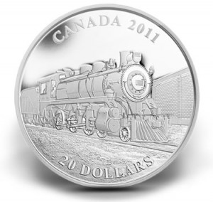 Canadian $20 D-10 Locomotive Silver Coin