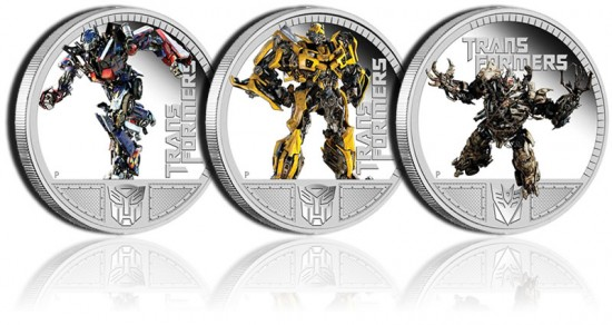 Transformer 3 Collector Silver Coins