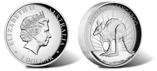 2011 Australian Kangaroo 1oz Silver Proof High Relief Coin