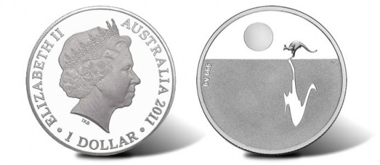 2011 Australian Kangaroo at Sunset 1/5 Oz Silver Proof Coin