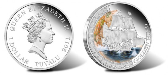 2011 Golden Hind Silver Proof Coin