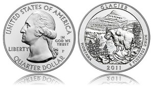 2011-P Glacier National Park 5 Ounce Silver Uncirculated Coin