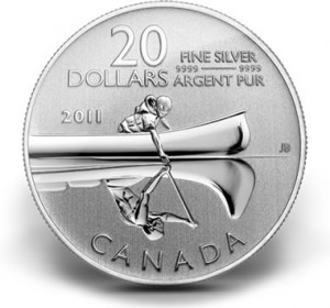 Canadian 2011 $20 Silver Canoe Commemorative Coin