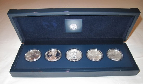 25th Anniversary American Silver Eagle Set