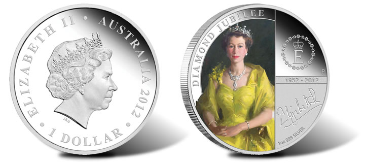 cb9529557 Australian Proof Silver Coin Celebrates Queen's Diamond Jubilee | SCT